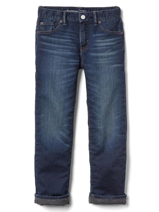 Yumuşak dokulu streç straight jean pantolon