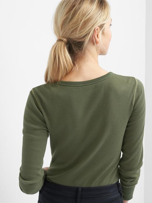 yeşil Uzun kollu termal üst