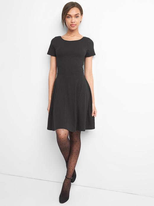 Kadın Siyah Çapraz arkalı elbise