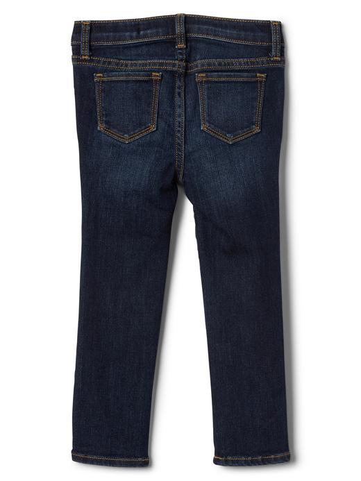 Streçli işlemeli skinny jean pantolon