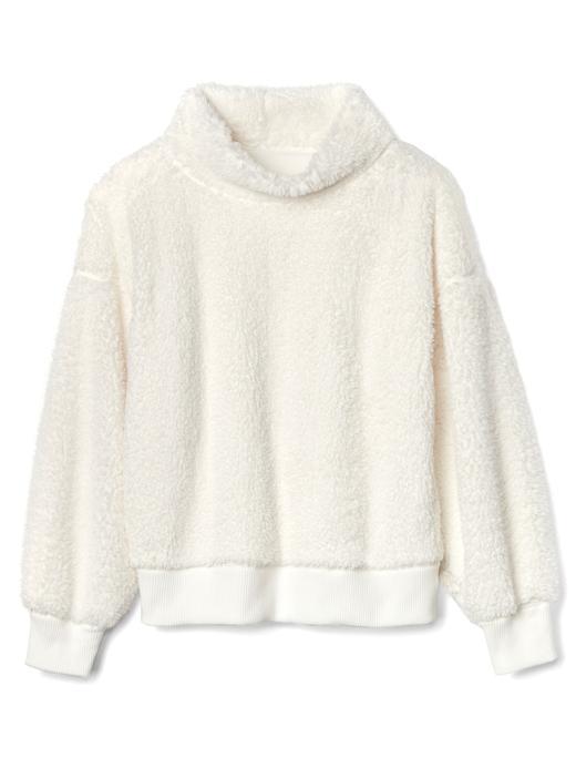 Sherpa boğazlı sweatshirt