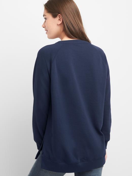 Kadın lacivert Pullu logolu sweatshirt