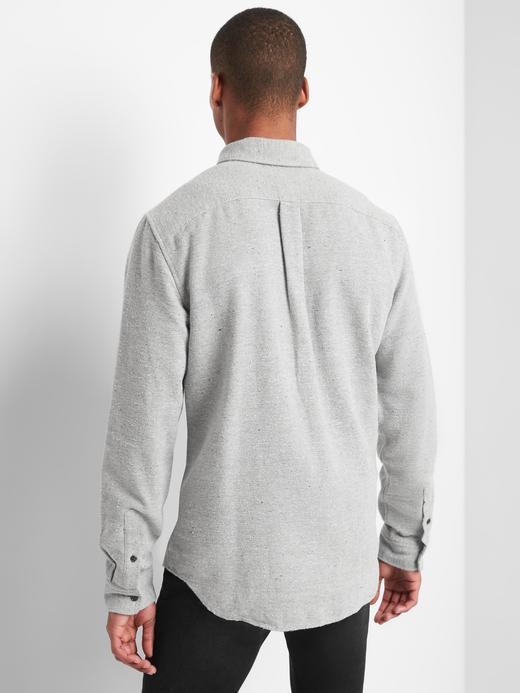 Erkek kırçıllı gri Standart fit gömlek