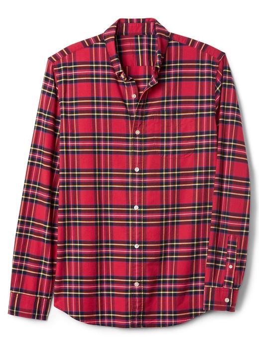 Oxford ekoseli standart fit gömlek