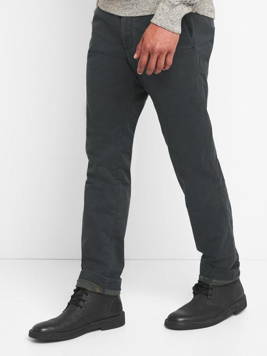 siyah Astarlı slim fit streçli pantolon