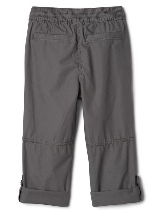 Bebek mavi Ayarlanabilir paçalı pantolon