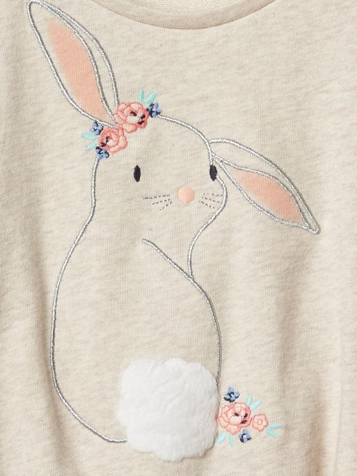Tavşan desenli kısa kollu üst