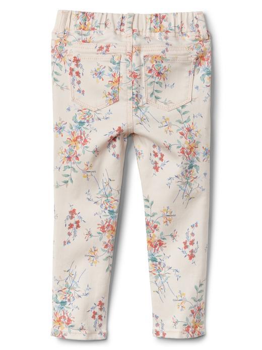 Çiçek desenli Fantastiflex jegging pantolon