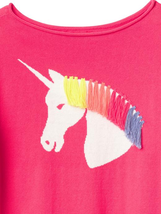 Unicorn desenli kayık yaka t-shirt