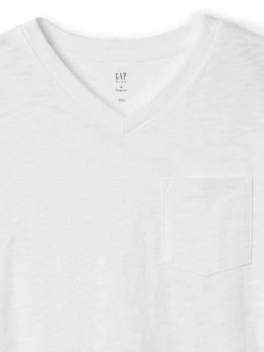 V yaka cepli t-shirt