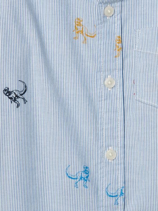 Desenli düğmeli gömlek
