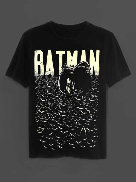 siyah GapKids | DC™ grafik desenli t-shirt