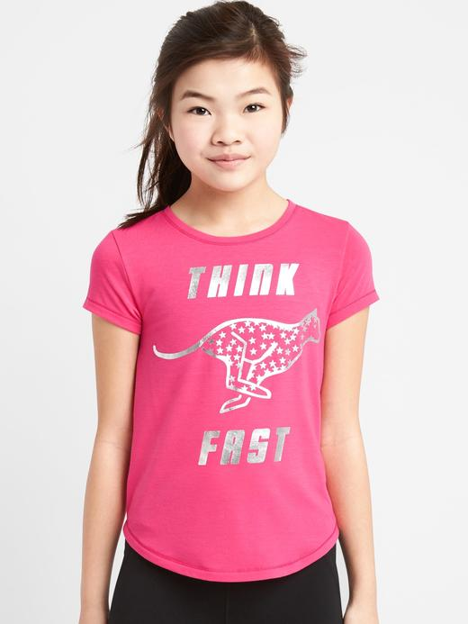 GapFit Kids grafik desenli t-shirt