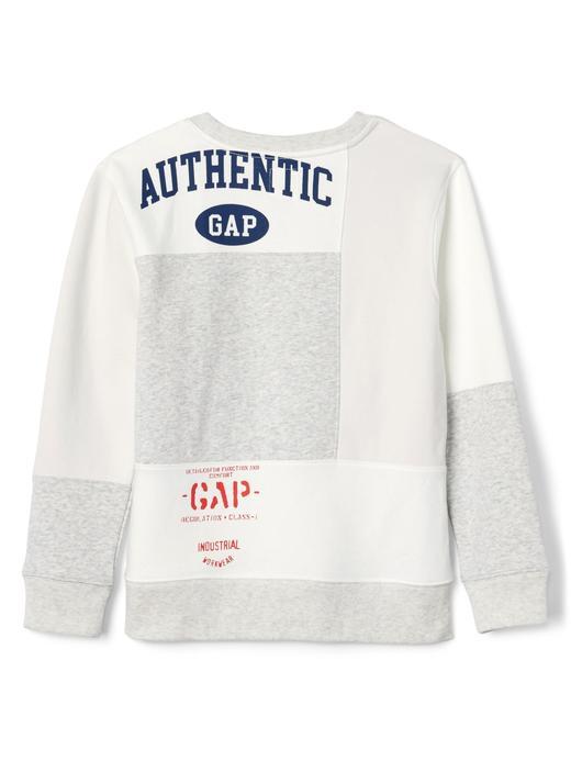 GapKids Logo Remix sıfır yaka sweatshirt