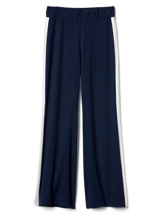 Softspun geniş paçalı çizgili pantolon