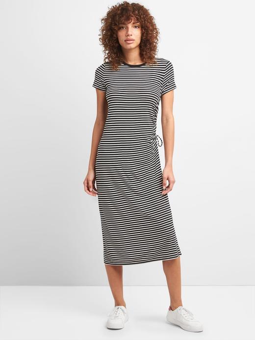 Kısa kollu midi elbise