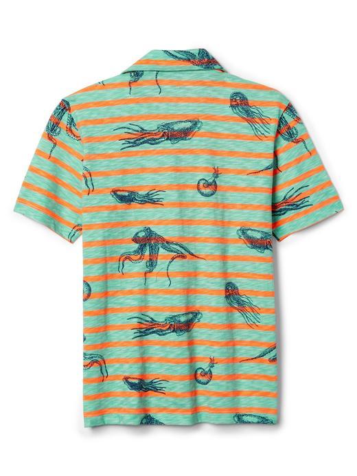 Çizgili desenli polo t-shirt