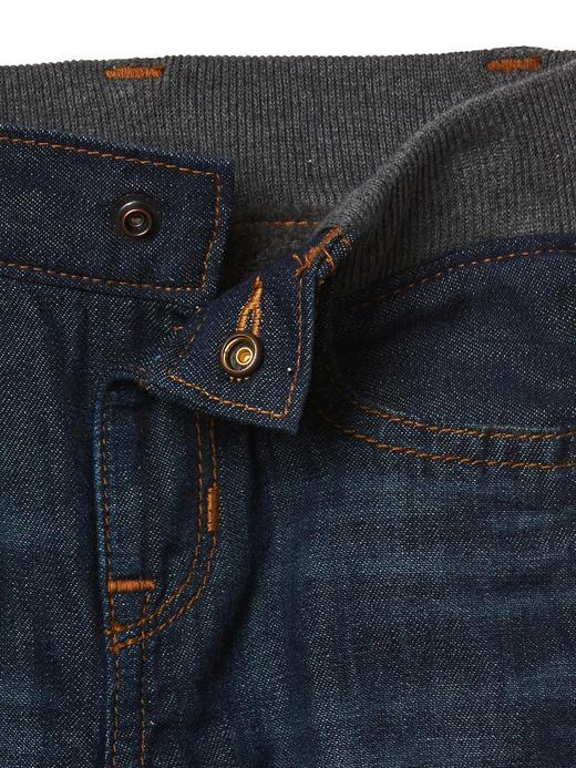 İçi koyun yünlü düz paça jean pantolon