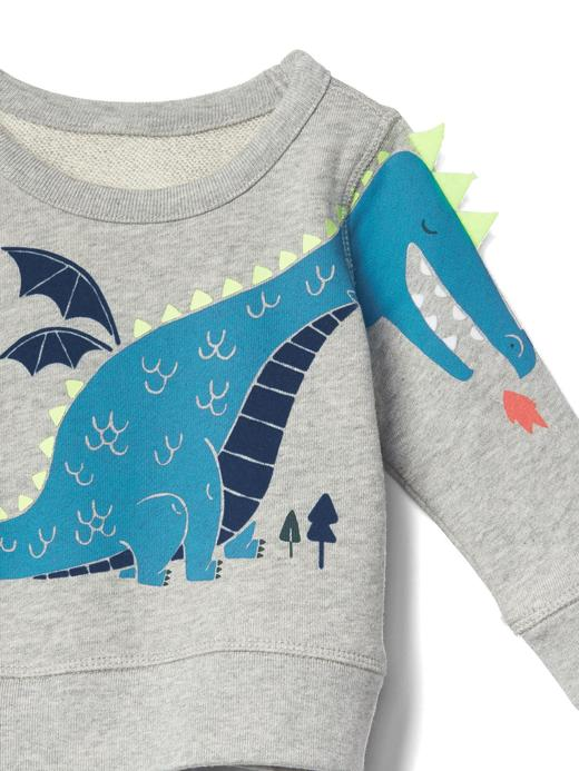Sevimli ejderha desenli sweatshirt