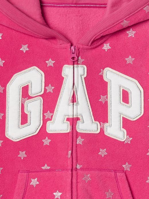 Kız Çocuk fuşya Gap Logolu kapüşonlu