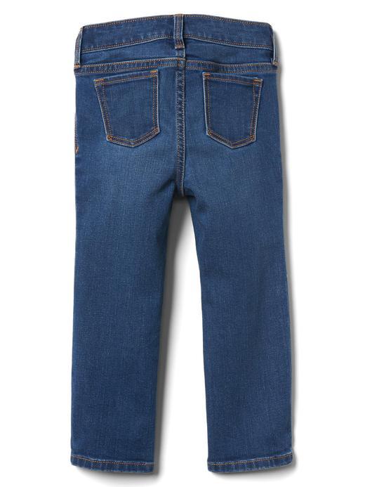 orta yıkama Straight jean pantolon