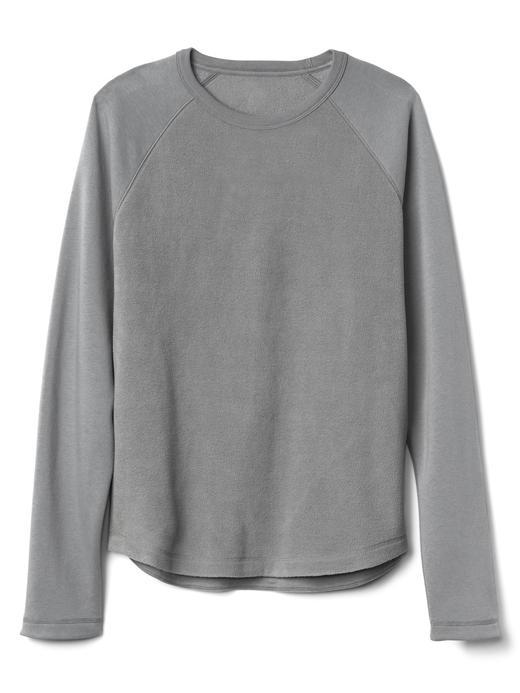 Reglan kollu sıfır yaka sweatshirt