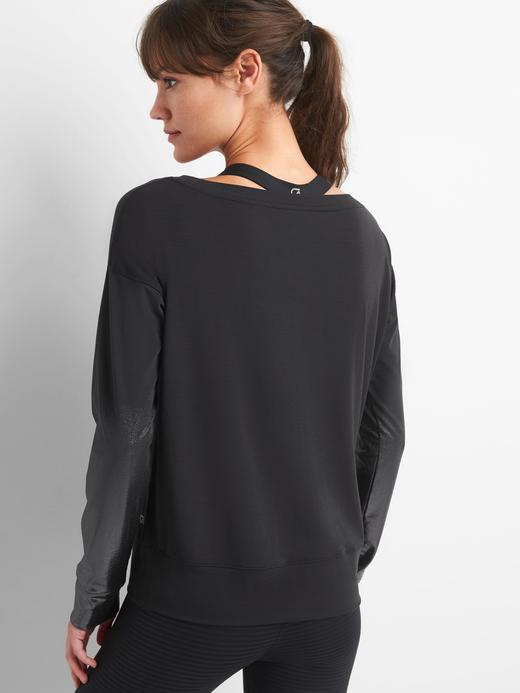 GapFit Breathe metalik sweatshirt