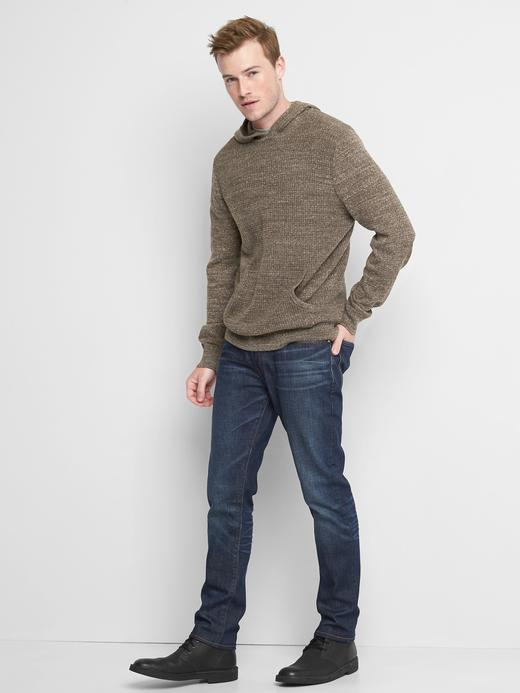 Erkek gri Kapüşonlu sweatshirt