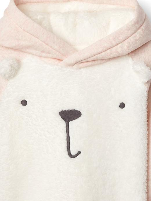 Yumuşak ayıcıklı kapüşonlu sweatshirt