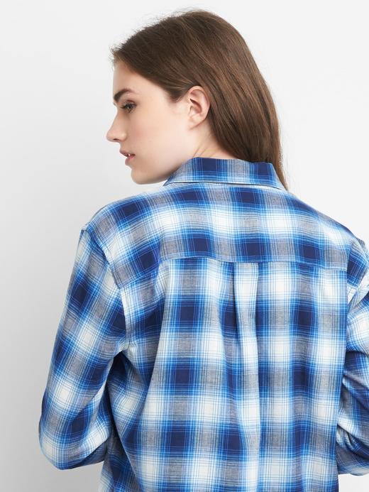 Ekose desenli boyfriend gömlek