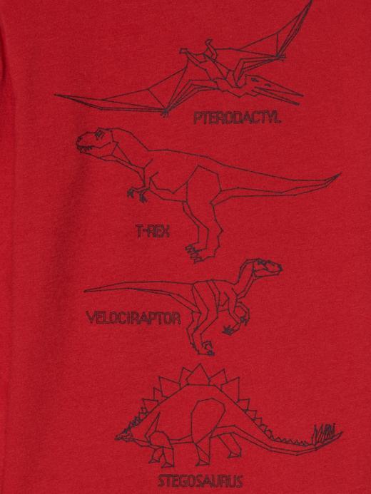 Grafik desenli uzun kollu t-shirt