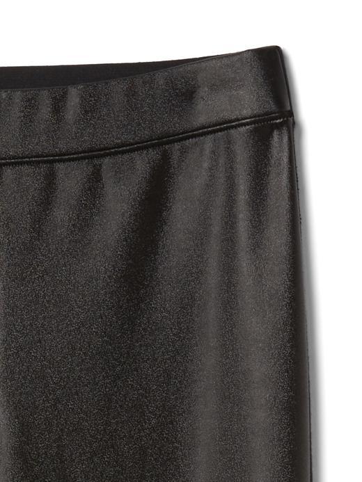 Karışık materyalli deri pantolon tayt