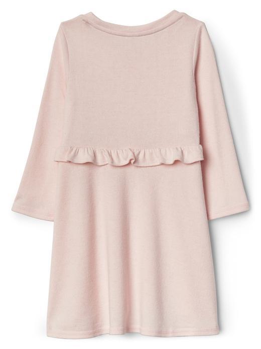 Softspun fırfır detaylı elbise