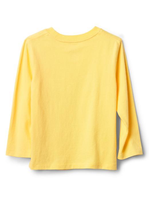 Bebek bordo Uzun kollu grafik desenli t-shirt