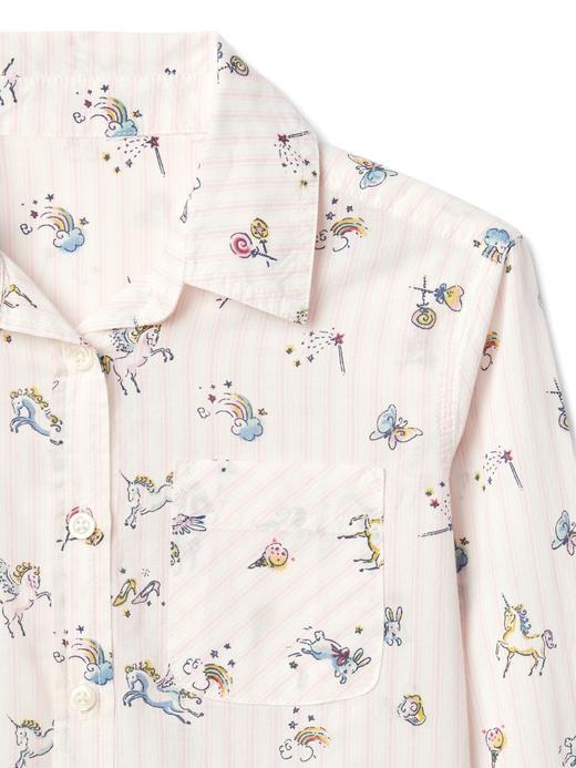 Unicorn desenli tunik gömlek