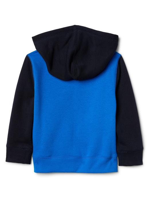 mavi Logolu kapüşonlu sweatshirt