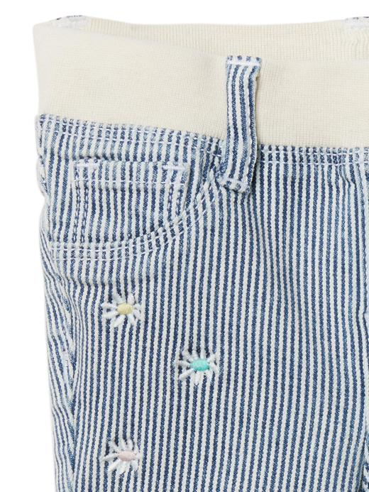 Streçli çizgili jegging pantolon