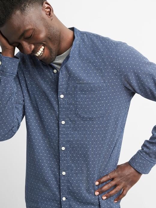 Standart fit streç gömlek