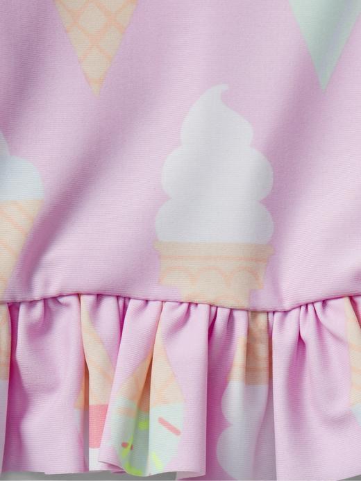 Dondurma desenli üst ve alt takım bikini