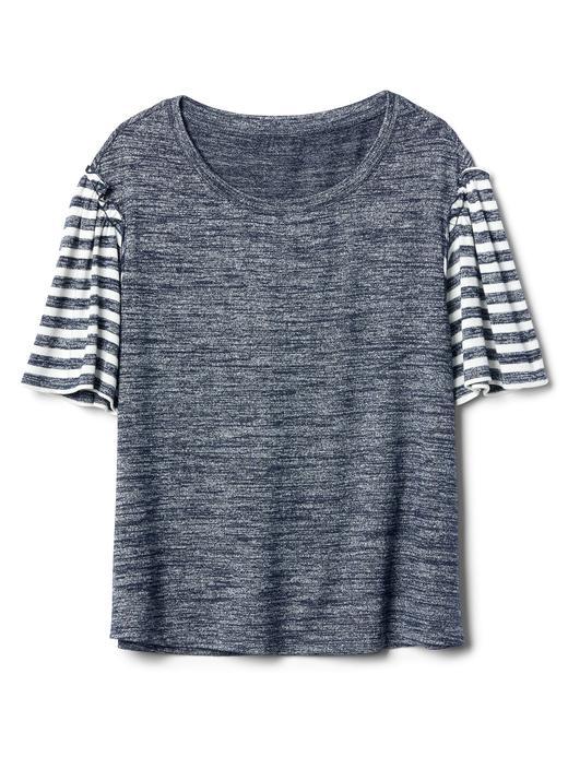 Softspun çizgili kısa kollu t-shirt