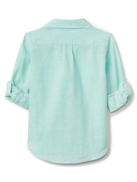 Bebek Beyaz Keten gömlek