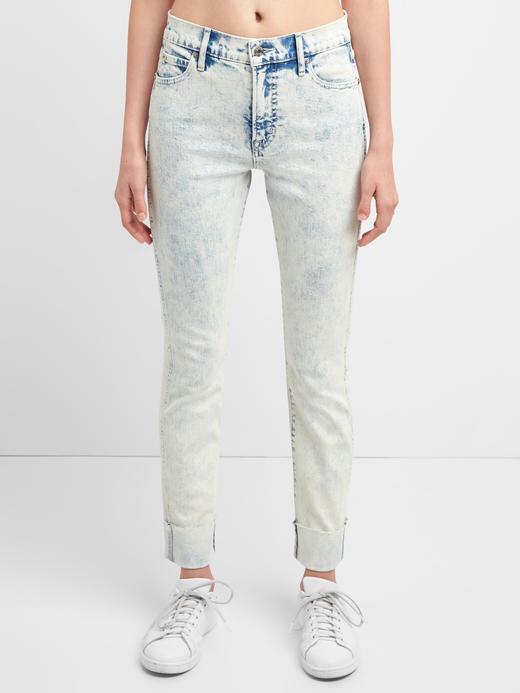 Washwell yüksek belli slim straight jean pantolon