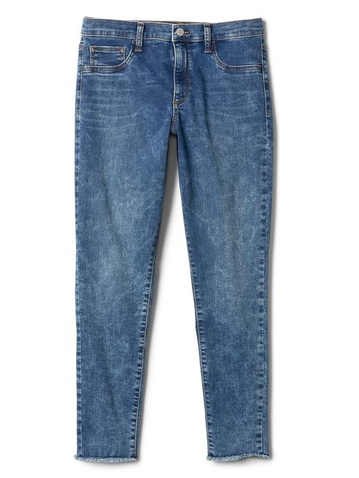 Washwell vintage yıkamalı orta belli jegging pantolon