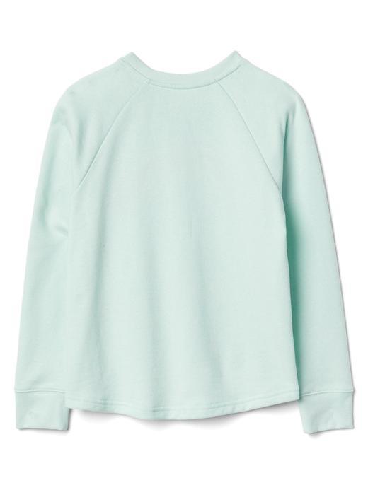 Grafik desenli yanları fermuarlı sweatshirt