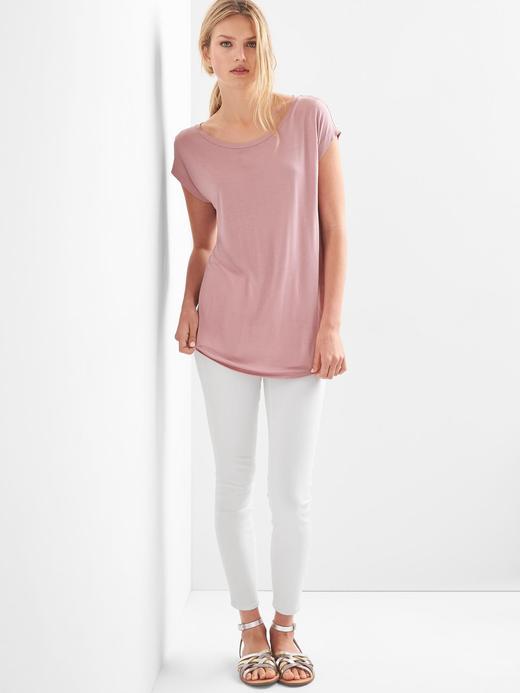 Kadın beyaz Kayık yaka tshirt