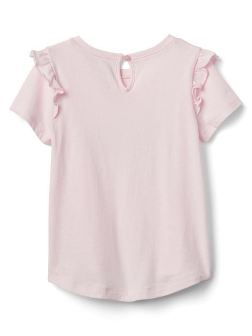 Bebek kız Fırfır detaylı t-shirt