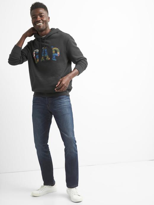 Logolu kamuflaj deseni detaylı sweatshirt