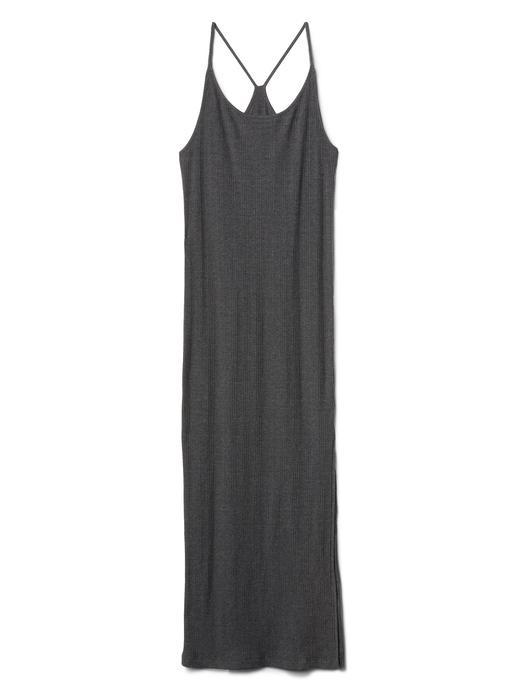 Softspun askılı maxi elbise