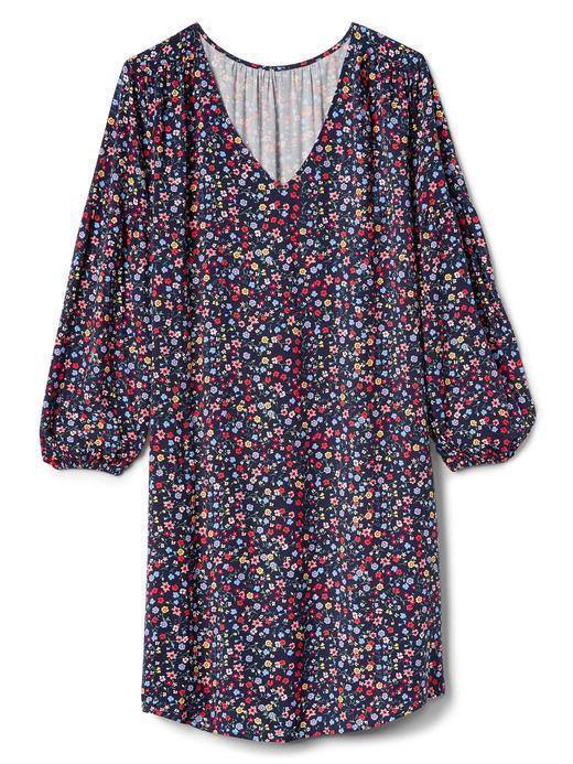 pembe çiçek desenli Uzun kollu çiçek desenli elbise