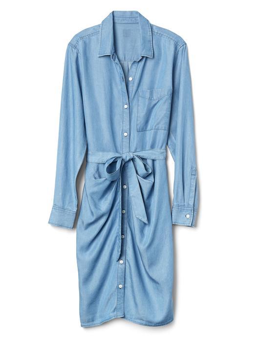 TENCEL™ uzun kollu gömlek elbise